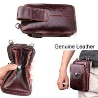 Genuine Leather Pouch Shoulder Belt Phone Case Bags For Asus Zenfone Max Pro (M2) ZB631KL ZB633KL Live Lite (L1) ZA550KL ZA551KL