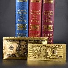 7 шт./компл. банкноты Золотая фольга Envolope упаковка долларов США коллекционные банкноты