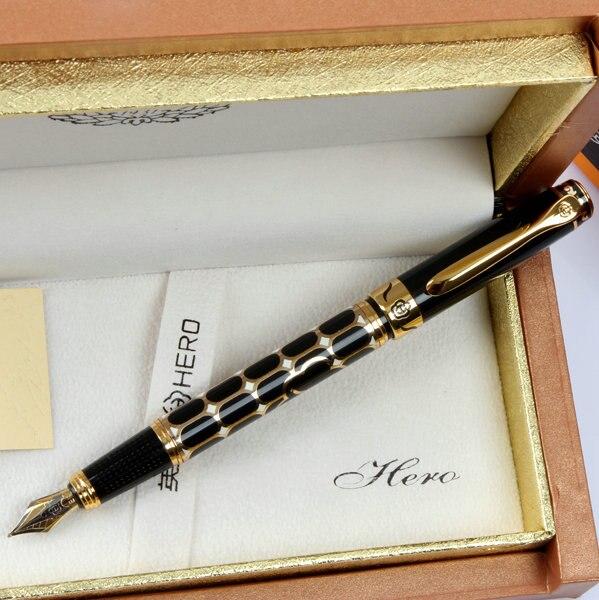 Hero pen nobility pipe Goldweave hardcover gift pen fountain pen senior free shipping hero fountain pen premium gift soar pen gift free shipping