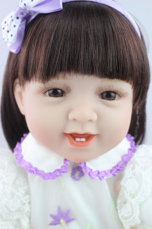NPKCOLLECTION 21 Lifelike Reborn Baby Dolls Black Skin Lovely Soft Silicone Vinyl Doll Princess Girls Toddler Bebe Gift Toy