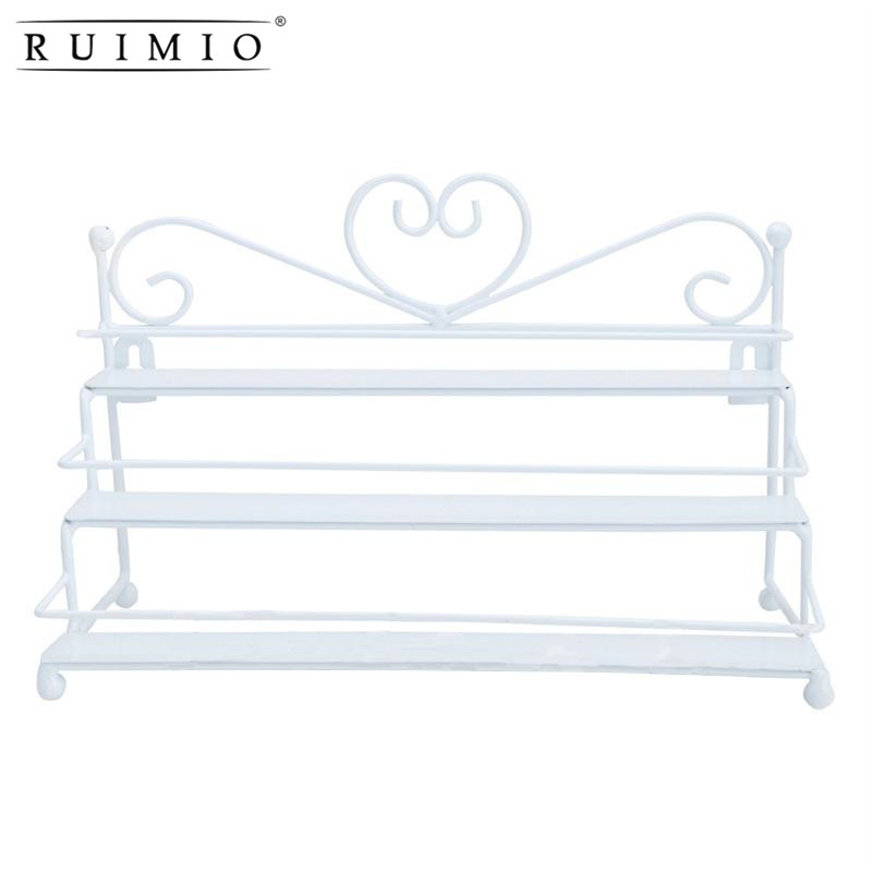 RUIMIO Metal Nail Polish Organizer Holder Table Nail Posh Dispaly Organizing Display Stand Holder Makeup Cosmetic Clear Rack