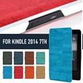 """GRAN AHORRO! NUEVO Cuero de LA PU Folio Funda de Piel Cubierta Con magentic Para Amazon Kindle ebook 2014 séptimo 6 """"eReader, Envío envío gratuito!"""