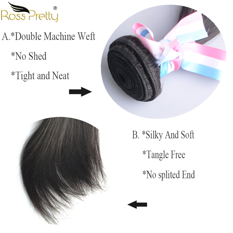 non remy straight hair bundle details