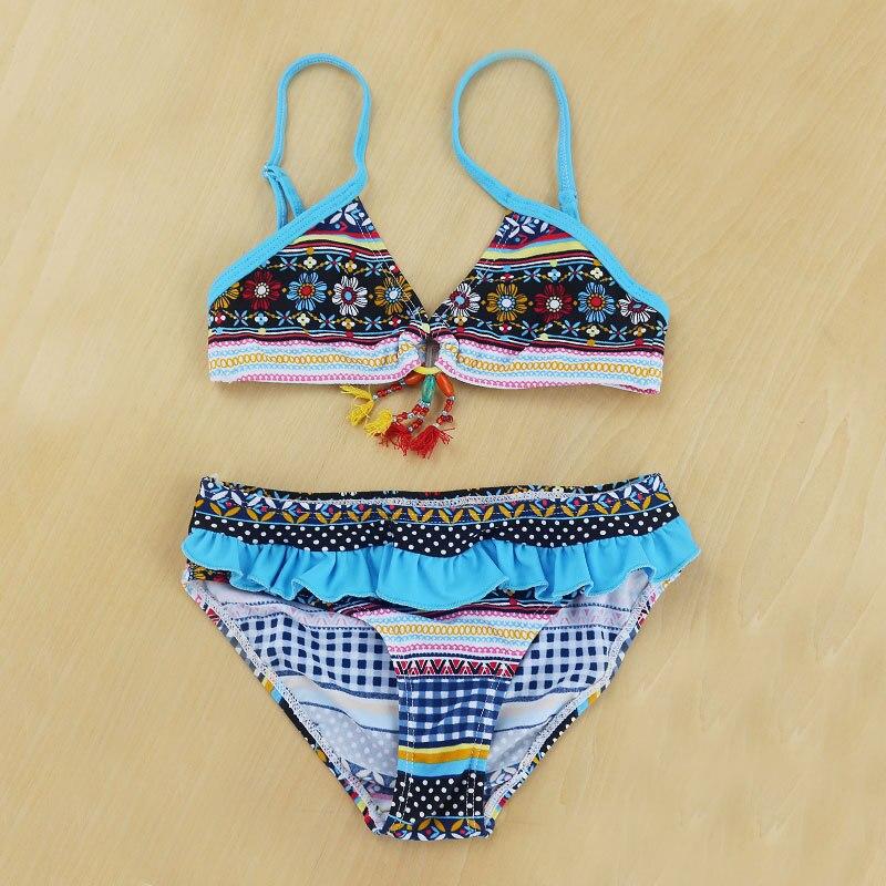 2018 New Baby Maya Striped Swimsuit Tankini Cute Swimwear Bathing Two Pieces Kid Girls Hot Beachwear Lovely Bikini Swimming Wear