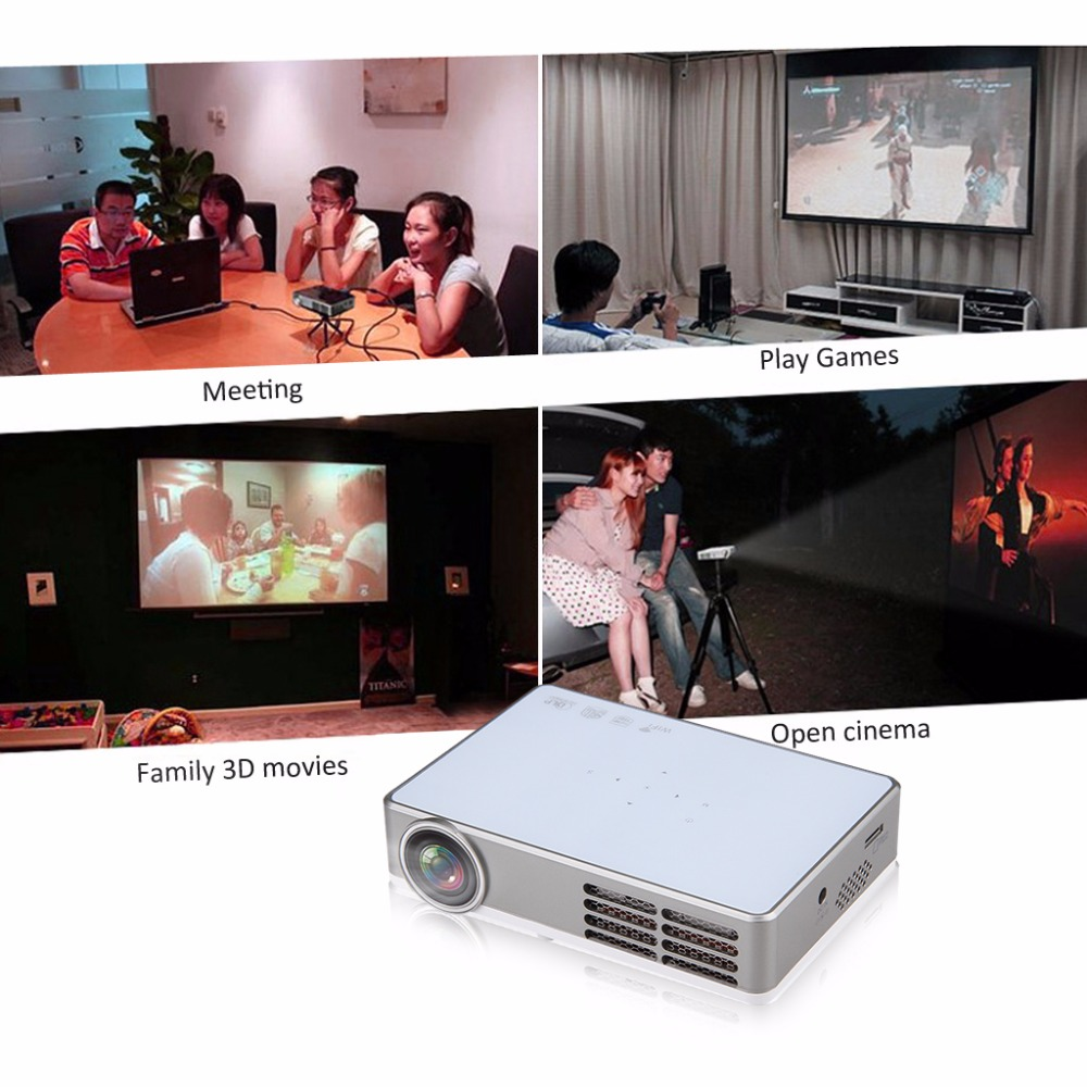Excelvan LED9 Portable WiFi Mini Projector Android4.4 LED DLP Projector With  ( (8)