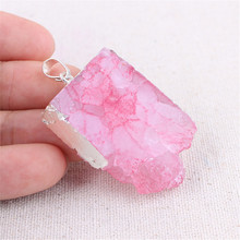 Sweater Chain Accessories Natural Agates Crystal Teeth Geometric Pendant