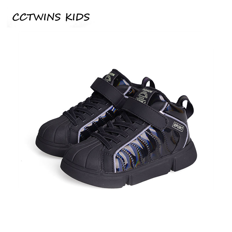 купить CCTWINS KIDS 2018 Autumn Children Pu Leather Shoe Baby Fashion Sport Trainer Boy Brand Casual Sneaker Girl Black FS2456 по цене 1827 рублей