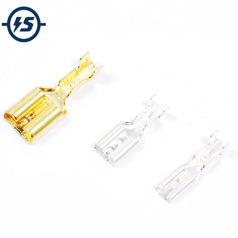 100Pcs 2.8/4.8/6.3 Female Spade Cable Wire Terminals Square Insert Wire Connectors 1pcs ptc thermostat aluminum heating element heater plate 60w ac dc 12v 180 degree incubator dehumidification mayitr