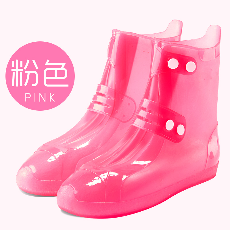 Mens and Womens Cute Waterproof Rain Boots Anti-slip Thickening Wear-resistant Rain-proof Shoe Covers Waterproof Rain Boots