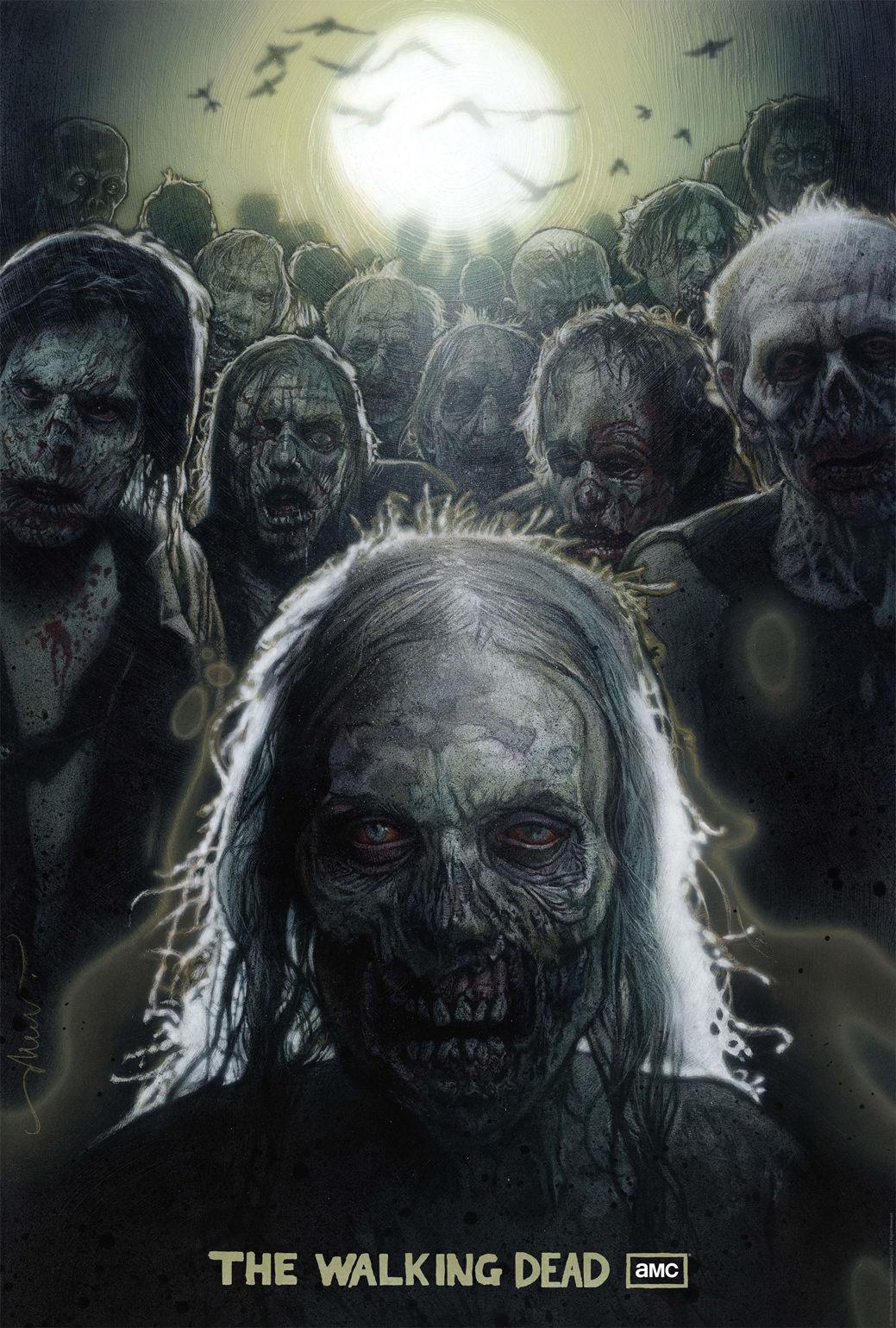 "The Walking Dead <font><b>1</b></font> <font><b>2</b></font> 3 4 TV Zombie Fabric Poster 36"" <font><b>x</b></font> <font><b>24</b></font>"" Decor <font><b>23</b></font>"