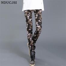 NDUCJSI Camouflage Printed Leggings Women High Waist Pants Plus Size Leggins Push Up Legging Workout Elastic Fitness