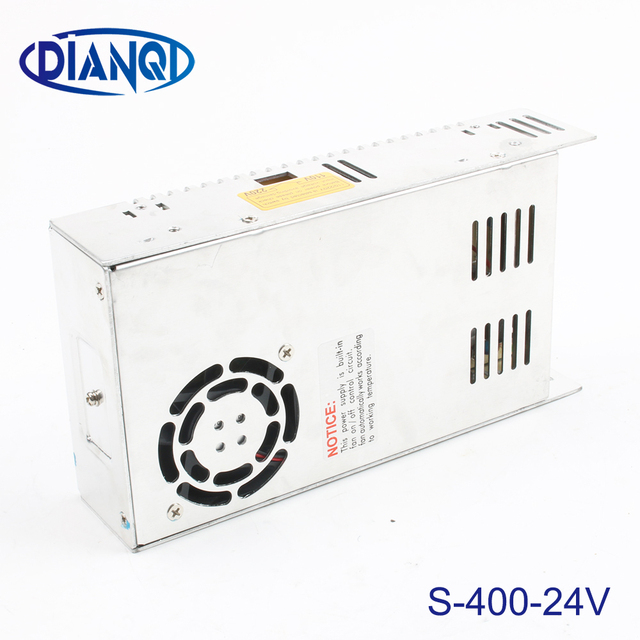 US $15 24 10% OFF|400W 24V 17A Single Output Switching power supply for LED  AC to DC smps 24v variable dc voltage regulator S 400 24-in Switching