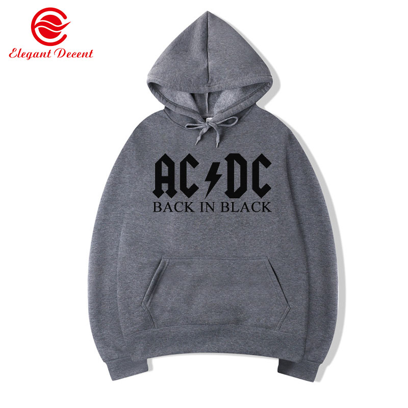 2019 AC DC Hoodie Men Hip Hop Rock Band AC/DC Back Men Tracksuit Male Casual Streetwear Jacket Hoody Sweatshirts Men Women Y07