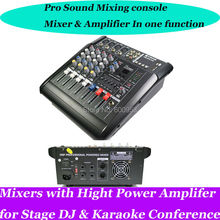 Pro 4 Channel 800W Mixing Console Power Amplifier  Live Studio Audio Mixers Mixer 220-240V