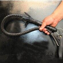 Черный 70 см и 80 см и 1 м ручной работы плетеный для верховой езды хлыст из воловьей кожи для верховой езды оборудование для верховой езды