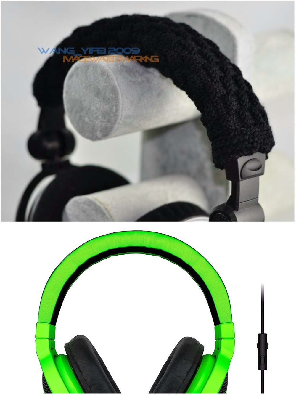 e366feb1774 100% pura lã headband pads almofada para razer kraken
