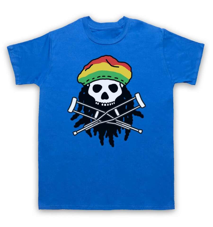 Jackass <font><b>Skull</b></font> & Crossbones Logo Rasta is an original design from My <font><b>Icon</b></font> Art & Clothing. Available on Mens <font><b>T-Shirts</b></font>