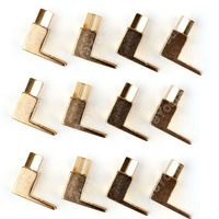 High Quality 12 Pcs Brass Speaker Fork Terminal Spade For 4mm Banana Plug Adapter