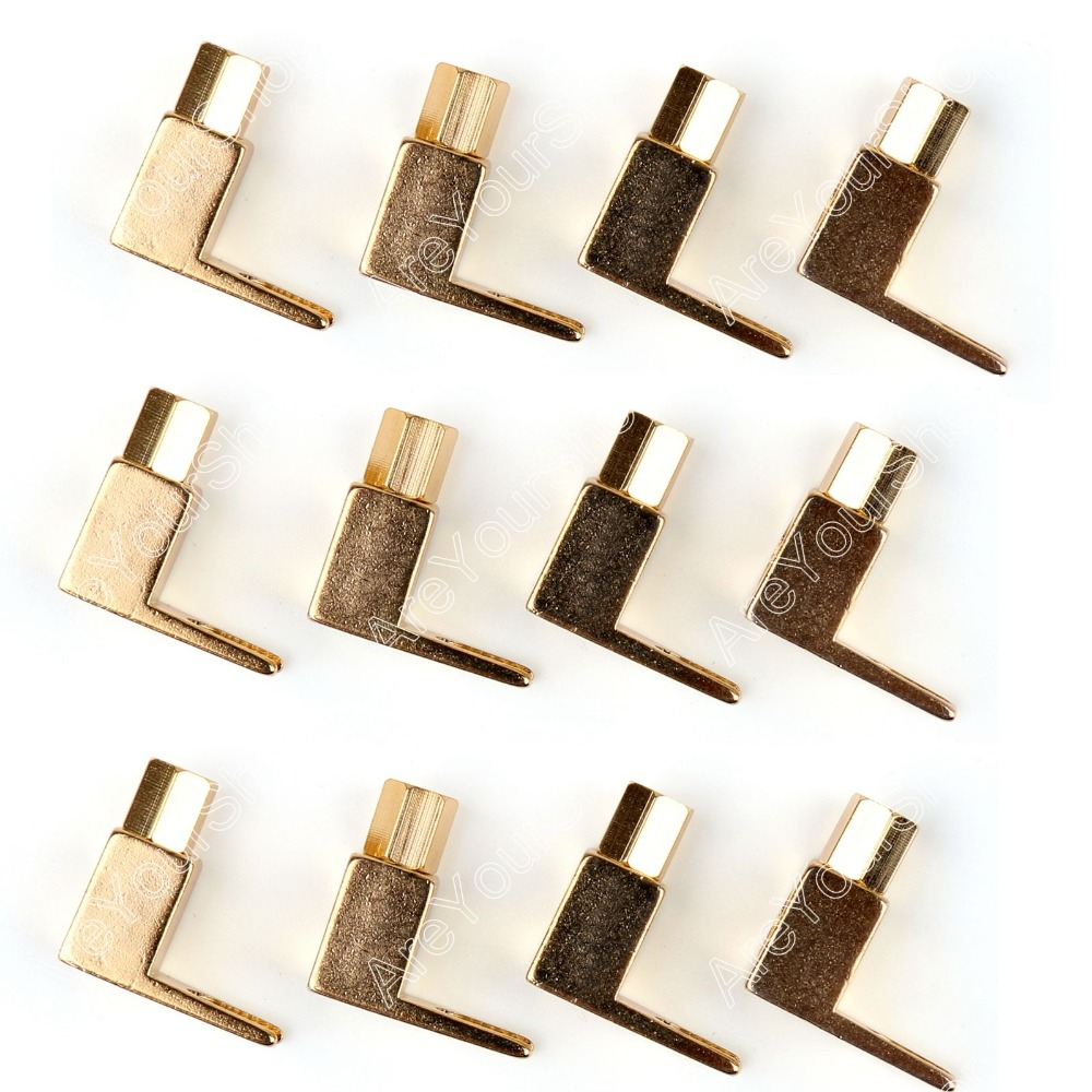 Areyourshop High Quality 12 Pcs Brass Speaker Fork Terminal Spade For 4mm Banana Plug Adapter areyourshop hot sale 50 pcs 5 color copper 4mm banana plug connector high quality