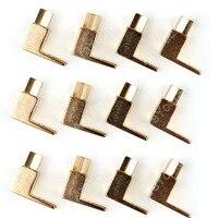 Areyourshop High Quality 12 Pcs Brass Speaker Fork Terminal Spade For 4mm Banana Plug Adapter