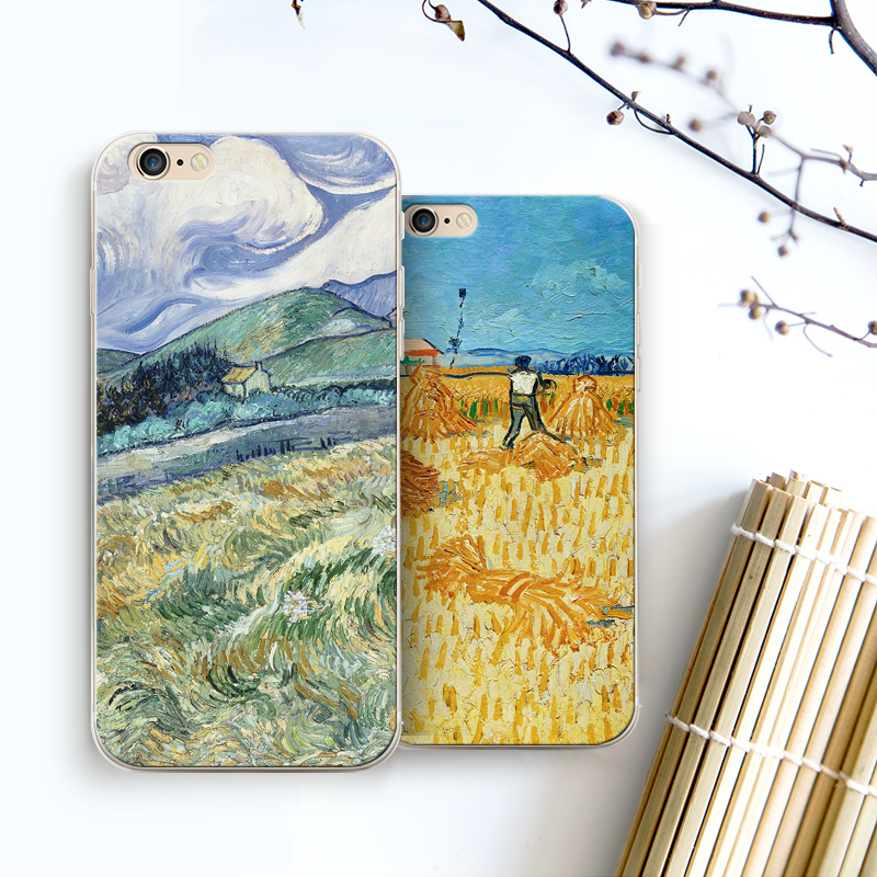 Ngansek Vincent Van Gogh Cases For Apple Iphone X 5 5s Se 6 6s 8 Plus Oil Painting Sunflower Starry Sky Night Van Gogh Case Phone Bags & Cases Fitted Cases