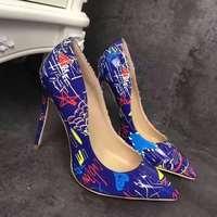Ladies Shoes Peep Toe Heels Shoes Female Valentine Party Pumps Women Sexy High Heels Blue Shoes Female Dress Wedding Shoes Bride