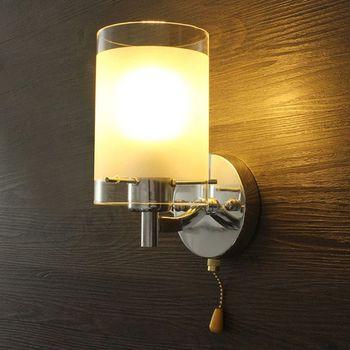 1 Set AC85-265V E27 LED Wall Light Modern Glass Decorative Lighting Sconce Fixture Lamp фото