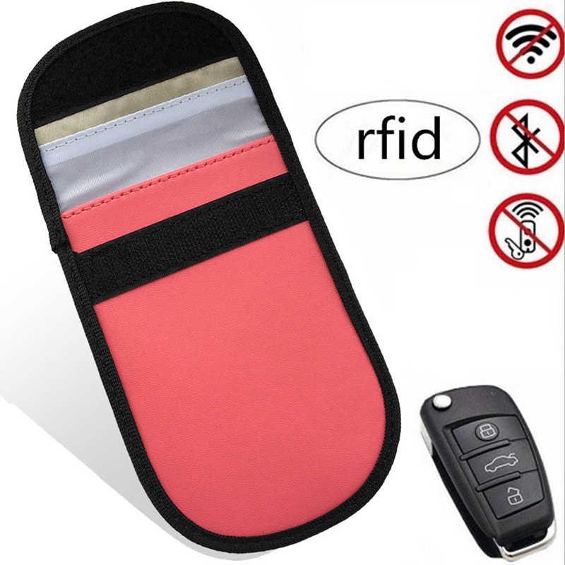 2x Блокировка ключа автомобиля сигнальный блок без ключа вход Противоугонный брелок сумка кошелек