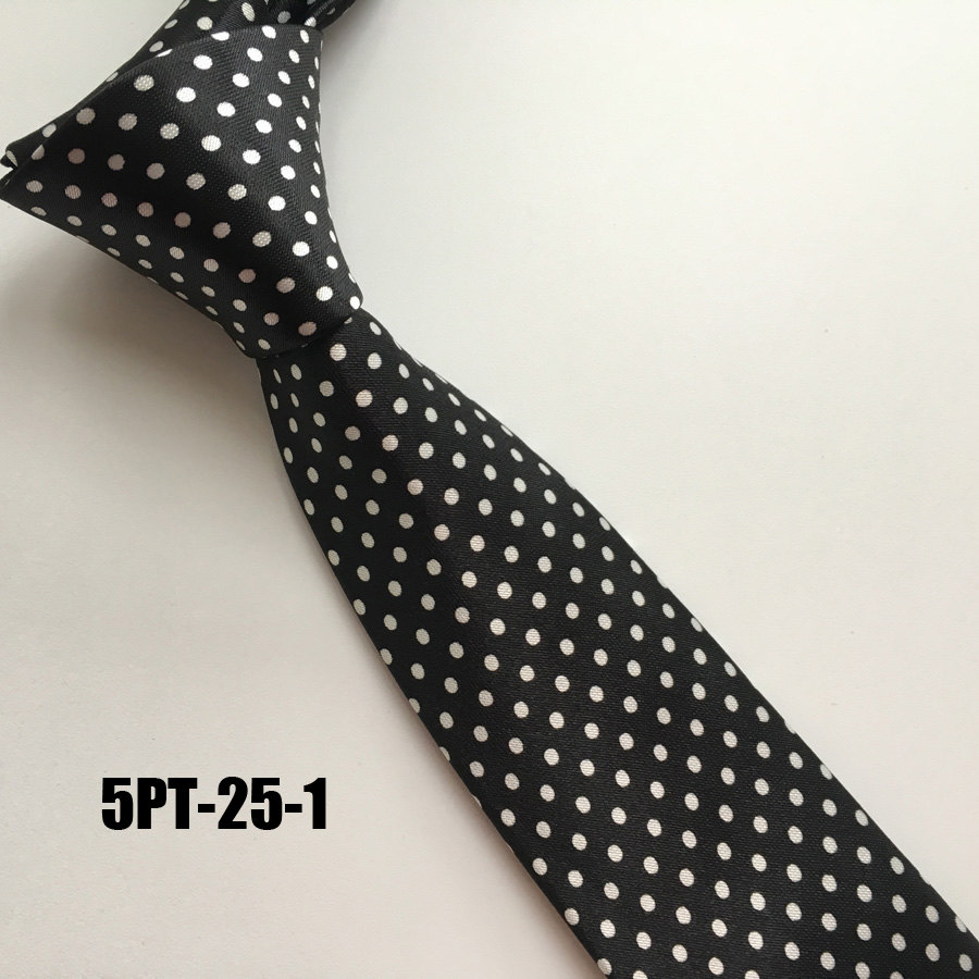 0b888e1590f1 5cm Style Men Skinny Necktie Polyester Black Wedding Ties Dot Business  Shirt Accessories Ties Slim Wedding Men Polka Dot Tie
