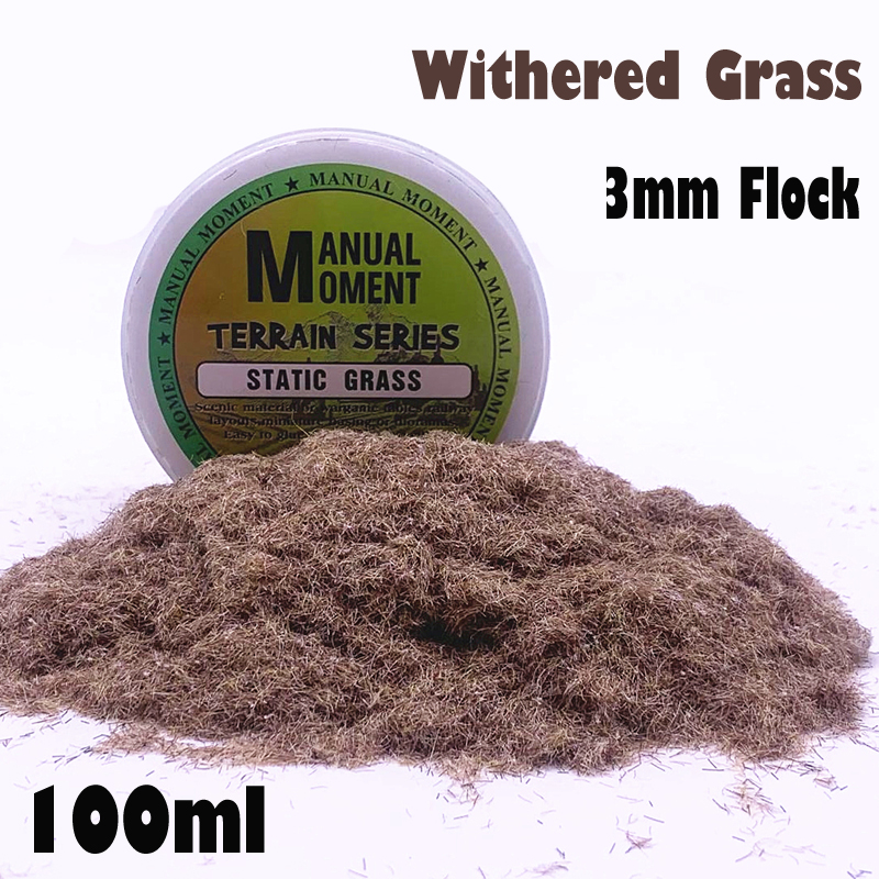Miniature Scene Model Sand Table Withered Grass Turf Flock Lawn Nylon Grass Powder STATIC GRASS 3MM Hobby Craft Material