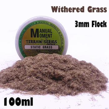 Miniature Scene Model Sand Table Withered Grass Turf Flock Lawn Nylon Grass Powder STATIC GRASS 3MM Hobby Craft Material 3mm Flock Static Grass Fiber HOBBY ACCESORIES Model Number: 153