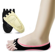 2pcs Five Fingers Toes Foot Care Massage Socks Arch Support Relieve Pain Compression Socks цена