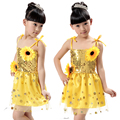 new Sunflower Sequin children's costumes dance costumes girls veil sequins modern new condole kindergarten children