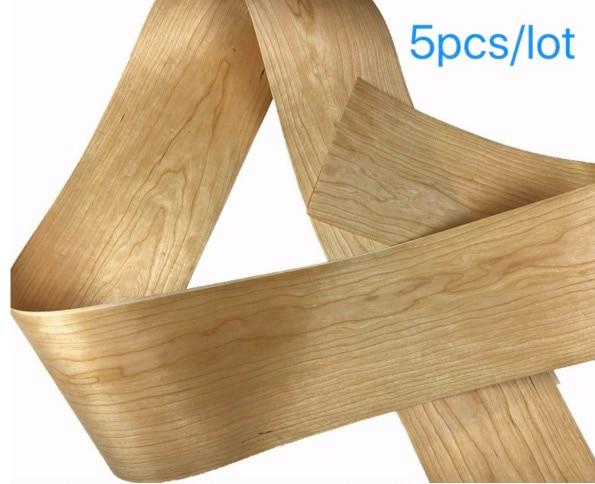 5Pieces/Lot  L:2.5Meters Wide:200mm Thickness:0.2mm American Natural Cherry Bark Veneer Solid Wood Speaker Skinning Veneer Furniture Accessories     - title=