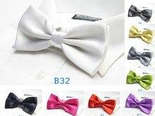 Gravata borboleta sólida camisa de vestido novo arco adulto amarrar 18 cores festa de casamento acessório 20 pçs/lote