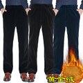 Envío Gratis Hombres Otoño Invierno Gusano de Pana de Terciopelo Pantalones Rectos de Cintura Alta casual de Negocios Más El Tamaño de Lana Pantalones XL-5XL