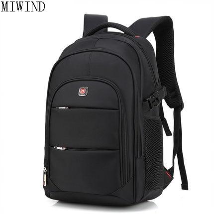 MIWIND Women Waterproof Nylon Backpack Men Women Material Escolar Mochila Quality Brand