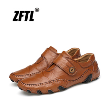 ZFTL New Man Casual Genuine leather shoes mens Peas octopus driving Big size male Leisure Boat Handmade  025