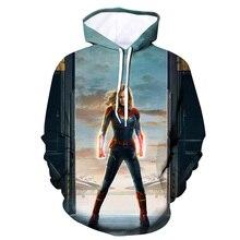 2019 Ms Marvel Carol Danvers  Captain Hoodies Sweatshirts Cosplay Avengers 3 Costume Jackets Tops For Man Woman Coat