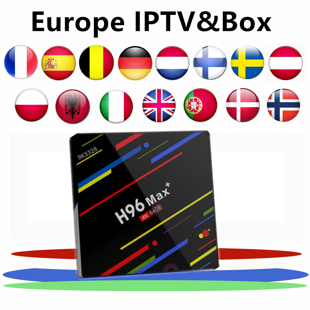 Europe iptv for h96 max plus android 8 1 tv box europe france belgium canada usa