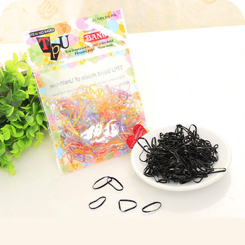 Two Types TPU Braids Plaits Ponytail Holder Silicone Elastic Hair Bands Rubber Bands Ties for Women Headwear Hair Accessories 500 2000pcs pack rubber rope ponytail holder elastic hair bands ties braids plaits hair clip headband hair accessories