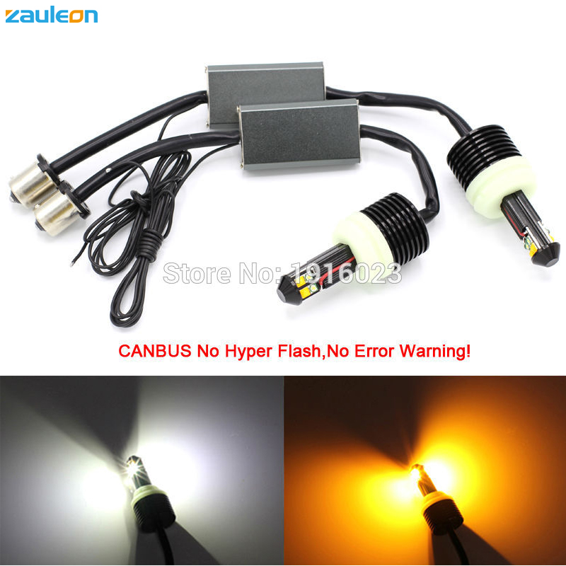 2pcs 1156 PY21W P21W White/Yellow Dual color for Front DRL/Turn Signal Light Canbus No Error No Hyper Flashing Bulb car-styling free shipping 10pcs lot n fet amplification 2sk163 k163 2sk170 k170 to 92 original product