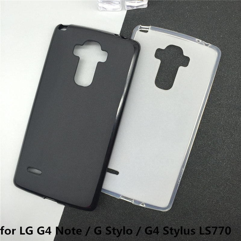 Soft Silicone Phone <font><b>Cases</b></font> for <font><b>LG</b></font> G4 Note / <font><b>G</b></font> <font><b>Stylo</b></font> / G4 Stylus LS770 Original TPU Back Cover Pudding <font><b>Case</b></font> Capa Fundas Black image