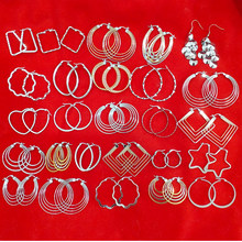 Random Big Hoop Earrings Sexy Earrings Accessories Fashion Exaggerated Hoop Ear Loop Smooth Circle for Women Girl Jewelry(China)