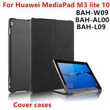 """Funda Para Huawei Mediapad m3 lite 10 BAH-L09 AL00 bah-w09 10.1 """"tableta Cubiertas Protectoras Casos Soporte de Cuero de LA PU Protector de La Manga"""