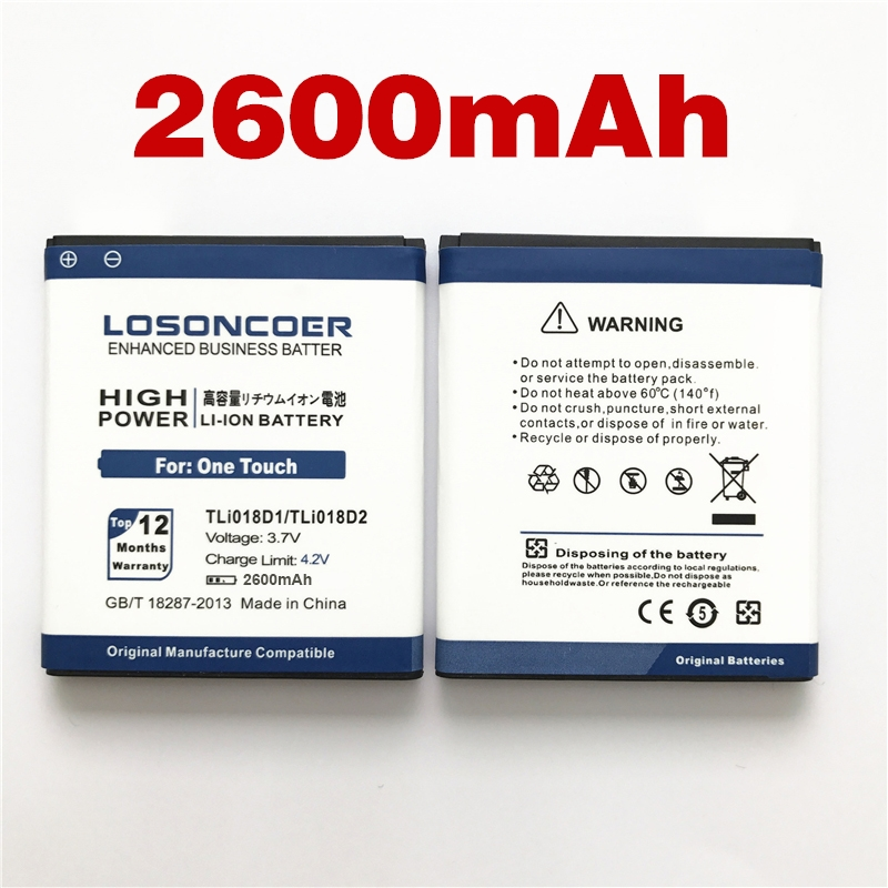 LOSONCOER Tli018d1 Battery Alcatel 3-5015d 2600mah 100%Original For One-Touch-Pop D5