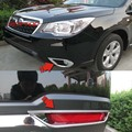 Front + Rear Fog Light Cover Lamp Chrome Trim Kit Foglight Styling Accessories FOR Subaru Forester SJ 2014-2016