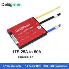 Deligreen 17 S 25A35A45A60A 60 В PCM/PCB/BMS для 3,7 В литиевая батарея 18650 Lithion LiNCM Li- полимера Батарея Pack