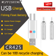 WLPFISHING Brand New Galleggianti Da Pesca Ricaricabile CR425 Partita Batteria USB per Uso Vestito per Diversi Dispositivi Caricatore(China)