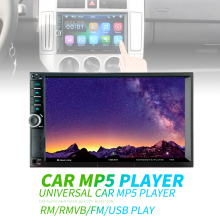 цена на 7 Inch 2 DIN Bluetooth In Dash HD Touch Screen Car Video FM Radio Stereo Player Support Mirror Link Aux In Car Rear View Camera